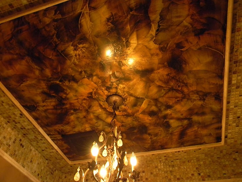 Interior ceiling faux finish paint