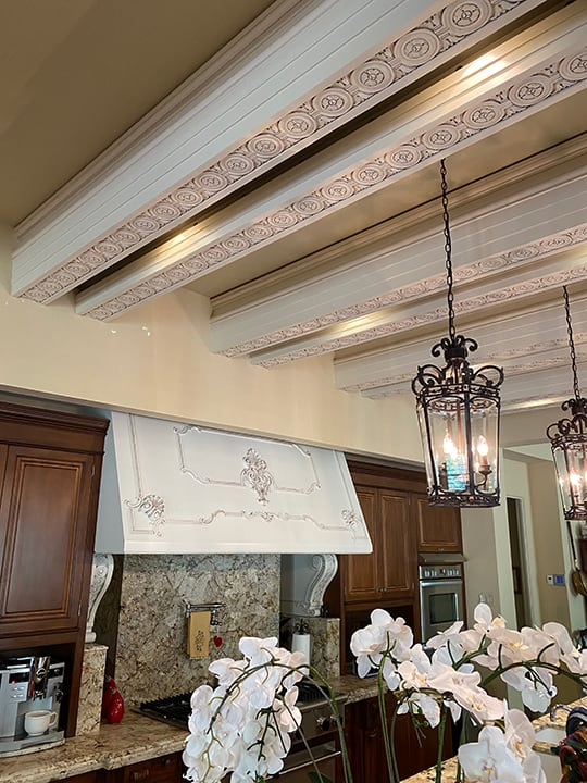 Interior ceiling columns custom paint