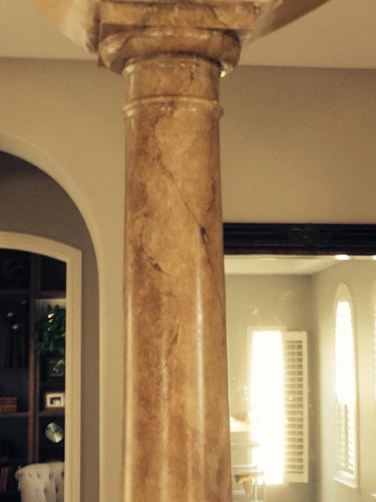 Interior column custom paint