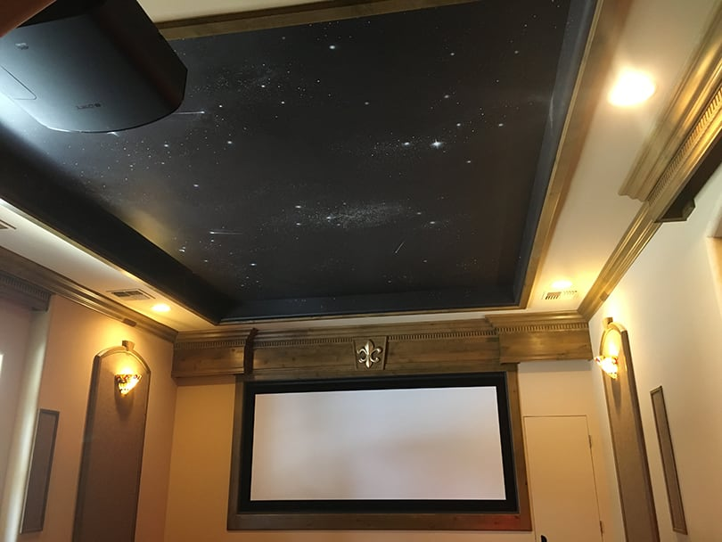 Ceiling stars custom painting