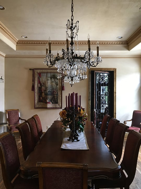 Dining room custom painting