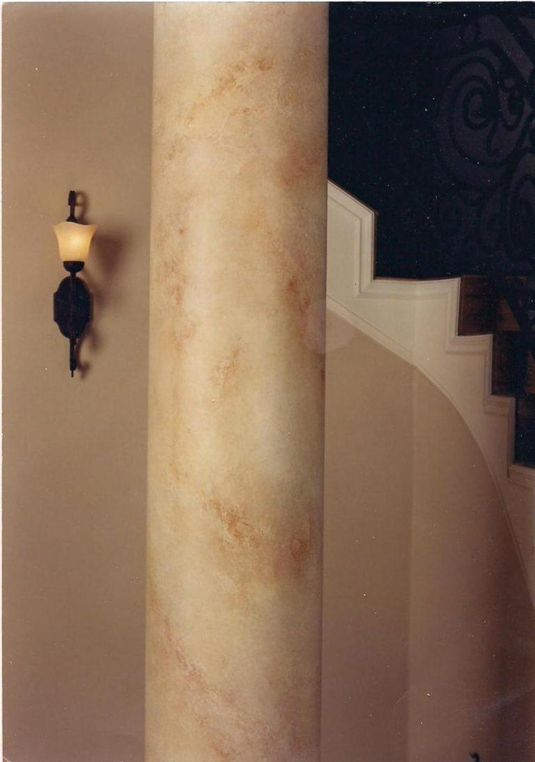 Faux Marble Finish Column