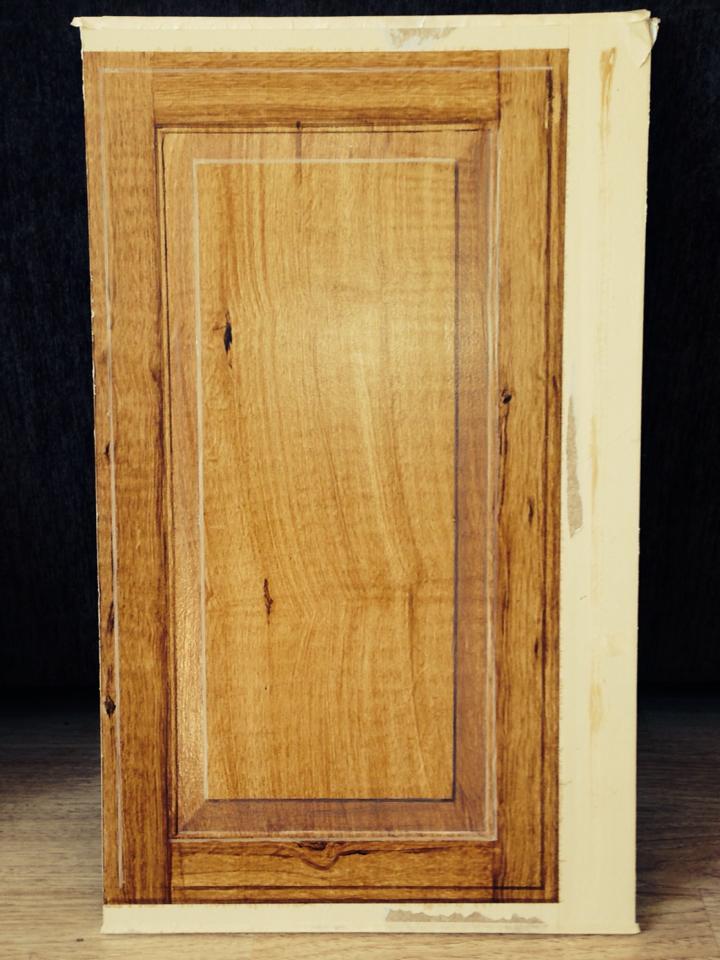 Faux Wood Grain Cabinet